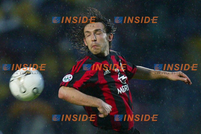 Siena 17/4/2004 Campionato Italiano Serie A <br /> 30a Giornata - Matchday 30 <br /> Siena Milan 1-2 <br /> Andrea Pirlo Milan<br />  Foto Insidefoto