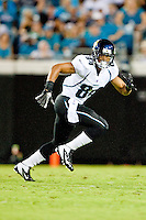 August 19, 2011:  Jacksonville Jaguars wide receiver Cecil Shorts (84) runs for a pass during pre season action between the Jacksonville Jaguars and the Atlanta Falcons at EverBank Field in Jacksonville, Florida.   Jacksonville defeated the Falcons 15-13.........
