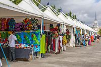 Fort-de-France, Martinique.  Souvenir Vendors Tents near the Cruise Ship Pier.