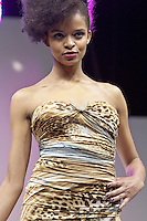8th December 2012: Britain's Next Top Model series 8 contestant Rissikat Oyebade at Clothes Show Live 2012 at the NEC, Birmingham, UK