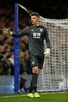 11th January 2020; Stamford Bridge, London, England; English Premier League Football, Chelsea versus Burnley; Goalkeeper Nick Pope of Burnley - Strictly Editorial Use Only. No use with unauthorized audio, video, data, fixture lists, club/league logos or 'live' services. Online in-match use limited to 120 images, no video emulation. No use in betting, games or single club/league/player publications