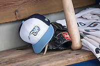 West Michigan Whitecaps hat on April 24, 2016 at Fifth Third Ballpark in Comstock, Michigan. (Andrew Woolley/Four Seam Images)
