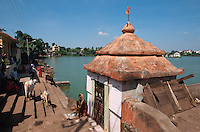 Indien, Orissa, Bhubaneswar, Am heiligen See Bindu Sagar