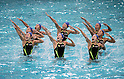 Japan team group (JPN),<br /> AUGUST 3, 2016 - Synchronized Swimming :<br /> Japan's synchronized swimming team group take part in a training session at the Maria Lenk Aquatic Center ahead of the 2016 Olympic Summer Games in Rio de Janeiro, Brazil. (Photo by Enrico Calderoni/AFLO SPORT)