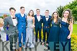 Enjoying the Colaiste na Sceilge Debutante Ball at Ballyroe Heights Hotel on Tuesday were l-r  Niall O'Shea, Shay Flaherty, Clodagh Kerin, Conchubhair Guiney, Kieran Clifford, Caoimhe O'Sullivan and Laura O'Connor