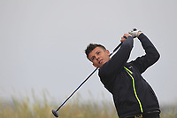 John Robinson (Ballymena) on the 1st tee during Round 1 - Matchplay of the North of Ireland Championship at Royal Portrush Golf Club, Portrush, Co. Antrim on Wednesday 11th July 2018.<br /> Picture:  Thos Caffrey / Golffile