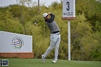 Lucas Bjerregaard (DEN) watches his tee shot on 3 during day 5 of the WGC Dell Match Play, at the Austin Country Club, Austin, Texas, USA. 3/31/2019.<br /> Picture: Golffile | Ken Murray<br /> <br /> <br /> All photo usage must carry mandatory copyright credit (&copy; Golffile | Ken Murray)