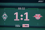 15.04.2018, Weser Stadion, Bremen, GER, 1.FBL, Werder Bremen vs RB Leibzig, im Bild<br /> <br /> Feature ANZEIGENTAFEL ENDRESULTAT 1 ZU 1<br /> <br /> Foto &copy; nordphoto / Kokenge