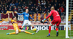 Ben Heneghan clears as Kenny Miller prepares to pull the trigger