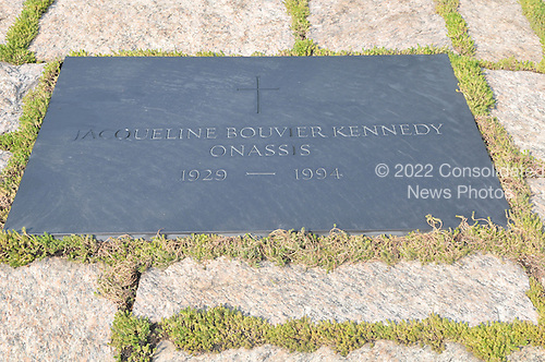 Arlington, VA - August 27, 2009 -- Marker for the grave of first lady Jacqueline Bouvier Kennedy at the Kennedy Gravesite at Arlington National Cemetery in Arlington, Virginia on Thursday, August 27, 2009..Credit: Ron Sachs / CNP.(RESTRICTION: NO New York or New Jersey Newspapers or newspapers within a 75 mile radius of New York City)