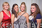 Mary Ashe, Denise McKenzie Vass, Kristin McKenzie Vass and Marie Kelly Tralee at the Rose of Tralee Fashion Show at the Dome on Sunday Night.