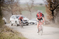 Fabio Fellini (ITA/Trek-Segafredo)<br /> <br /> 13th Strade Bianche 2019 (1.UWT)<br /> One day race from Siena to Siena (184km)<br /> <br /> ©kramon
