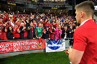 Owen Farrell walks over to thank fans after the 2017 DHL Lions Series rugby union 3rd test match between the NZ All Blacks and British & Irish Lions at Eden Park in Auckland, New Zealand on Saturday, 8 July 2017. Photo: Dave Lintott / lintottphoto.co.nz