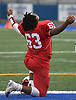 Shamel Howard #63 of Freeport reacts after his team's 20-19 win over Floyd in the Class I Long Island Championship at Shuart Stadium in Hempstead on Saturday, Nov. 24, 2018.