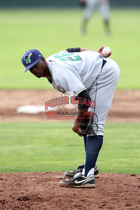 Jamestown Jammers pitcher Chris Squires #28 during a game against the Batavia Muckdogs at Dwyer Stadium on June 26, 2011 in Batavia, New York.  Jamestown defeated Batavia 6-2.  (Mike Janes/Four Seam Images)