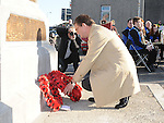 British Ambassador to Ireland Julian King lays a wreath at the annual memorial cermony at the Cenotaph. Photo: Colin Bell/pressphotos.ie