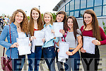 Nessa McGarty, Lauren O'Grady, Avril Fitzgerald, Michaela Chester, Ali Fealy and Sally O'Mahony, students attending Mounthawk Secondary School, Tralee, who received their Junior Certificate results on Wednesday morning.