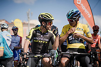 Colombians Esteban Chaves (COL/Mitchelton-Scott) & Egan Bernal (COL/SKY) at the start line<br /> <br /> Stage 8: Nice to Nice (110km)<br /> 77th Paris - Nice 2019 (2.UWT)<br /> <br /> ©kramon