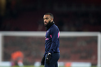 Alexandre Lacazette of Arsenal pre match during the UEFA Europa League match between Arsenal and Qarabag FK at the Emirates Stadium, London, England on 13 December 2018. Photo by Andy Rowland.