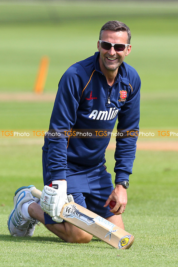 Essex head coach Paul Grayson smiles during the warm-up - Essex CCC vs Surrey CCC - LV County Championship Division Two Cricket at the Essex County Ground, Chelmsford, Essex - 26/05/14 - MANDATORY CREDIT: Gavin Ellis/TGSPHOTO - Self billing applies where appropriate - 0845 094 6026 - contact@tgsphoto.co.uk - NO UNPAID USE