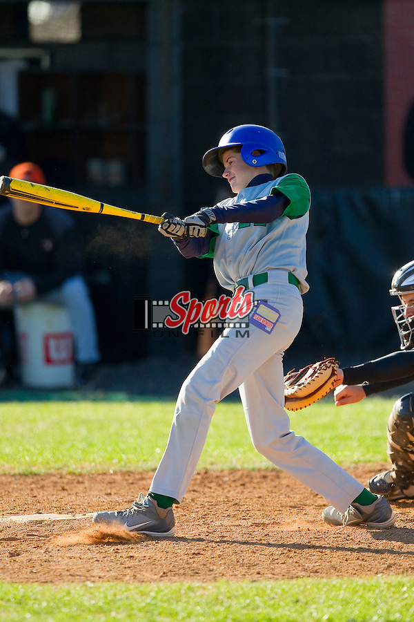The Northwest Cabarrus Titans played host to the Kannapolis Eagles in middle school baseball action at Northwest Cabarrus High School on March 21, 2013 in Kannapolis, North Carolina.  The Titans defeated the Eagles 21-14.  (Brian Westerholt/Sports On Film)