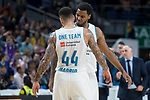 Real Madrid Jeffery Taylor and Trey Thompkins during Turkish Airlines Euroleague match between Real Madrid and Valencia Basket at Wizink Center in Madrid, Spain. December 19, 2017. (ALTERPHOTOS/Borja B.Hojas)