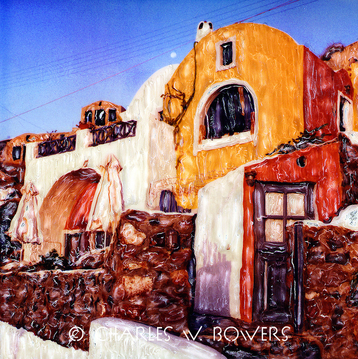 Lava Oia home patterns. A wonderful sight filled with color and architectural interest.