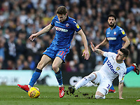 Bolton Wanderers' Joe Williams competing with Leeds United's Pablo Hernandez <br /> <br /> Photographer Andrew Kearns/CameraSport<br /> <br /> The EFL Sky Bet Championship - Leeds United v Bolton Wanderers - Saturday 23rd February 2019 - Elland Road - Leeds<br /> <br /> World Copyright © 2019 CameraSport. All rights reserved. 43 Linden Ave. Countesthorpe. Leicester. England. LE8 5PG - Tel: +44 (0) 116 277 4147 - admin@camerasport.com - www.camerasport.com