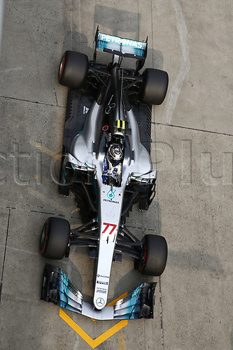 8th April 2017, Shanghai Circuit, Shanghai, China; Chinese Grand Prix Qualifying;  <br /> #77 Valtteri Bottas (FIN, Mercedes AMG Petronas) pit stop