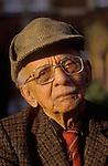Nirad Chandra Chaudhuri - CBE (23 November 1897 – 1999) was an Indian English-language writer outside his home 20, Lathbury road  Oxford.