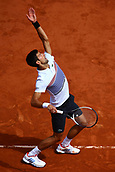 7th June 2017, Roland Garros, Paris, France; French Open tennis championships;  NOVAK DJOKOVIC (SRB) during day eleven match of the 2017 French Open at Stade Roland-Garros in Paris, France as he loses in 3 sets to Dominik Theim (AUT)
