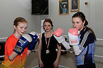 Michaela Stowe (48kg Winner and Coach)  with Kate Byrne and Ellen Byrne at Drogheda Boxing Club, Moneymore...Photo NEWSFILE/Jenny Matthews..(Photo credit should read Jenny Matthews/NEWSFILE)