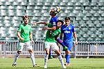 Chun Lok Tan of Wofoo Tai Po (R) fights for the ball with Kitchee Midfielder Krisztian Vadocz (L) during the Hong Kong FA Cup final between Kitchee and Wofoo Tai Po at the Hong Kong Stadium on May 26, 2018 in Hong Kong, Hong Kong. Photo by Marcio Rodrigo Machado / Power Sport Images