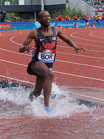 Hillary Bor of United States competing in the Men's 3000m Steeplechase during the Muller Grand Prix  IAAF Diamond League meeting at Alexander Stadium, Perry Barr, Birmingham.<br /> Picture by Alan Stanford +44 7915 056117<br /> 18/08/2018