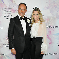 05 June 2019 - New York, New York - Frederick Pignault and Michelle Pfeiffer. 2019 Fragrance Foundation Awards held at the David H. Koch Theater at Lincoln Center. Photo Credit: LJ Fotos/AdMedia