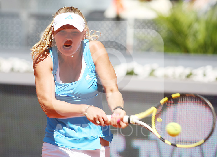 Denmark's Caroline Wozniacki during his Madrid Open semi final match.May 15 2009.(ALTERPHOTOS/Acero).