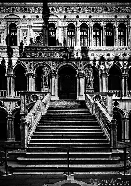 Giants' Staircase in the Doge's Palace, in Venice, Italy.<br />