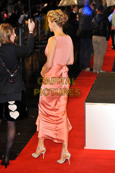 "Adrianne Palicki.The ""G.I. Joe 2: Retaliation"" UK film premiere, Empire cinema, Leicester Square, London, England..March 18th, 2013.full length dress pink sleeveless bow ribbon sash waist back behind rear  .CAP/MAR.© Martin Harris/Capital Pictures."