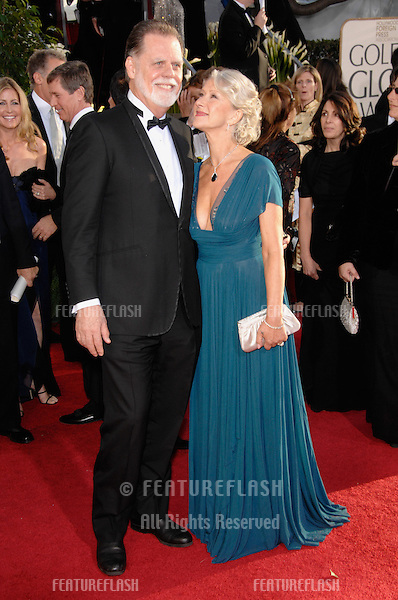 HELEN MIRREN & TAYLOR HACKFORD at the 64th Annual Golden Globe Awards at the Beverly Hilton Hotel..January 15, 2007 Beverly Hills, CA.Picture: Paul Smith / Featureflash