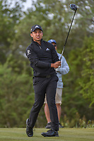 Xander Schauffele (USA) watches his tee shot on 15 during Round 1 of the Valero Texas Open, AT&amp;T Oaks Course, TPC San Antonio, San Antonio, Texas, USA. 4/19/2018.<br /> Picture: Golffile | Ken Murray<br /> <br /> <br /> All photo usage must carry mandatory copyright credit (&copy; Golffile | Ken Murray)