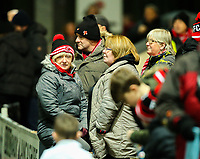 Fleetwood Town fans take their seats before the match<br /> <br /> Photographer Alex Dodd/CameraSport<br /> <br /> The EFL Sky Bet League One - Fleetwood Town v Shrewsbury Town - Tuesday 13th February 2018 - Highbury Stadium - Fleetwood<br /> <br /> World Copyright &copy; 2018 CameraSport. All rights reserved. 43 Linden Ave. Countesthorpe. Leicester. England. LE8 5PG - Tel: +44 (0) 116 277 4147 - admin@camerasport.com - www.camerasport.com