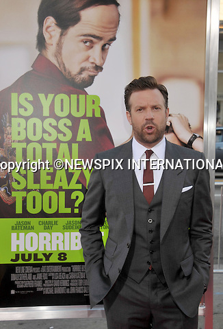 "JASON SUDEIKIS.attends the Los Angeles Premiere of ""Horrible Bosses""  Grauman's Chinese Theatre, Hollywood, Los Angeles, California_30/06/2011.Mandatory Photo Credit: ©Crosby/Newspix International. .**ALL FEES PAYABLE TO: ""NEWSPIX INTERNATIONAL""**..PHOTO CREDIT MANDATORY!!: NEWSPIX INTERNATIONAL(Failure to credit will incur a surcharge of 100% of reproduction fees).IMMEDIATE CONFIRMATION OF USAGE REQUIRED:.Newspix International, 31 Chinnery Hill, Bishop's Stortford, ENGLAND CM23 3PS.Tel:+441279 324672  ; Fax: +441279656877.Mobile:  0777568 1153.e-mail: info@newspixinternational.co.uk"