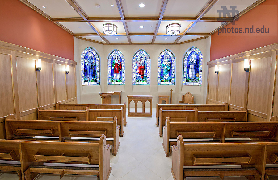 Mar 4, 2013; 2013 Stayer Center chapel. Photo by Barbara Johnston/University of Notre Dame
