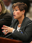 Dr. Tracey Green, Nevada State Health Officer, testifies in committee at the Legislative Building in Carson City, Nev., on Wednesday, Feb. 4, 2015. <br /> Photo by Cathleen Allison