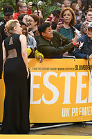 "LONDON, UK. June 18, 2019: Kate McKinnon arriving for the UK premiere of ""Yesterday"" at the Odeon Luxe, Leicester Square, London.<br /> Picture: Steve Vas/Featureflash"