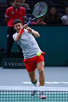 1st November 2019, AccorHotels Arena, Bercy, Paris, France; Rolex Paris Masters tennis tournament;  Lucas Pouille (FRA)