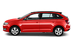 Car driver side profile view of a 2018 Skoda Rapid Spaceback Ambition 5 Door Hatchback
