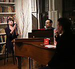 Beth Leavel, Matthew Sklar and Chad Beguelin attends the Dramatists Guild Fund Salon with Matthew Sklar and Chad Beguelin at the home of Gretchen Cryer on December 8, 2016 in New York City.