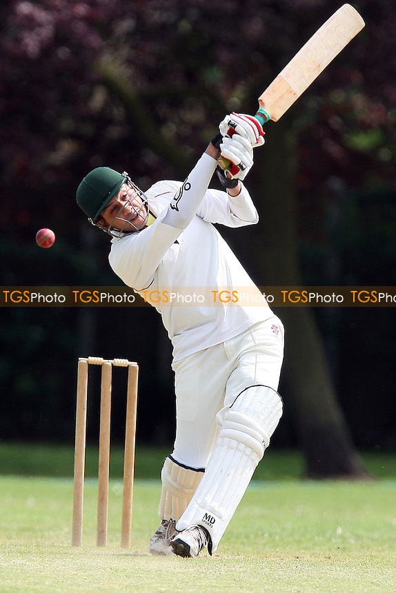 Yasir Ghayas in batting action for Asian as Ben Jones keeps wicket for Hornchurch Ath - Hornchurch Athletic CC vs Asian CC - Lords International Cricket League - 13/06/09 - MANDATORY CREDIT: Gavin Ellis/TGSPHOTO - Self billing applies where appropriate - 0845 094 6026 - contact@tgsphoto.co.uk - NO UNPAID USE.