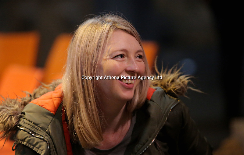 """Pictured: Writer Rachel Trezise <br /> Re: Press rehearsal of """"We'Re Still Here"""", a play created by Rachel Trezise, Common Wealth and the National Theatre Wales about steelworkers, which will be performed in Byass Works, a disused industrial unit, in Port Talbot, south Wales, UK."""